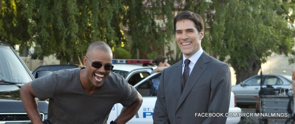 "Derek Morgan e Aaron Hotchner em destaque no episódio  de Criminal Minds desta semana, ""Lockdown""."